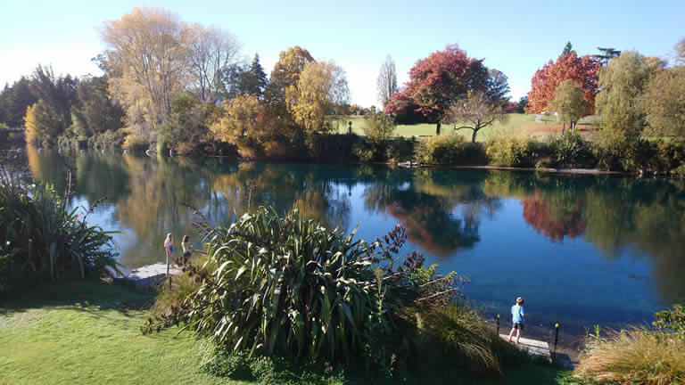 Trout fishing from your Taupo holiday home