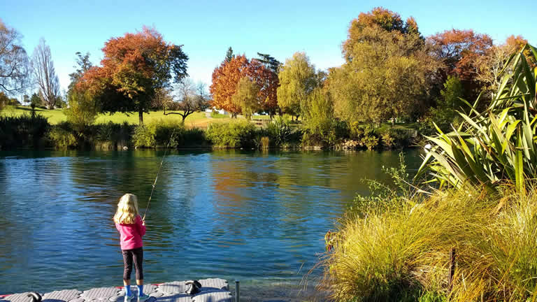 Fish for trout from Riverside Apartment Taupo