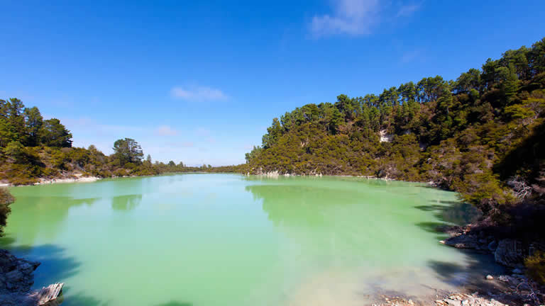 Wai-O-Tapu thermal wonderland near Riverside Apartment, Taupo, NZ